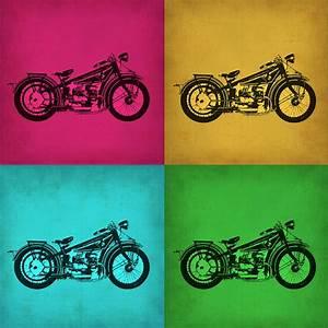 Vintage Bike Pop Art 1 Painting by Naxart Studio