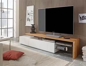 Tv Möbel Weiß : lowboard alessa i 204x40x44 cm wei eiche tv board tv m bel schrank wohnbereiche wohnzimmer tv ~ Buech-reservation.com Haus und Dekorationen
