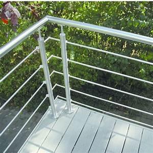 Garde Corps Terrasse Inox : garde corps inox pour palier escalier ou balcon oxynov deck lin a ~ Melissatoandfro.com Idées de Décoration
