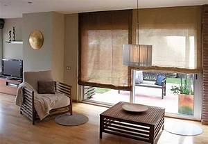 Rollo Für Terrassentür : sichtschutz im wohnzimmer moderne plissees gardinen und rollos ~ Markanthonyermac.com Haus und Dekorationen