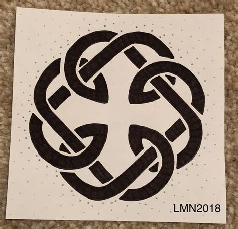 father daughter celtic knot drawing celtic knot