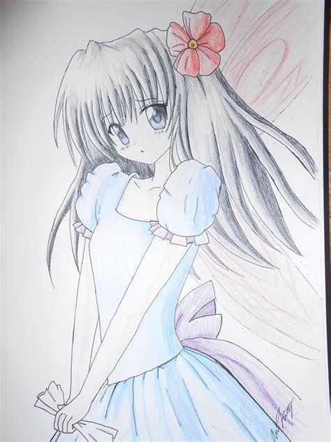 Anime Girl Pencil Drawing Easy