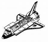 Shuttle Space Coloring Pages Tattoo Clipart Clip Clipartist Info sketch template