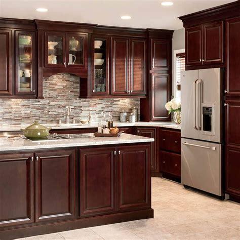 black kitchen cabinets lowes shop shenandoah bluemont 13 in x 14 5 in bordeaux cherry