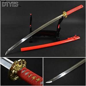 Real Japanese Katana Sword Katana 1095 High Carbon Steel ...