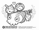 Octonauts Coloring Sheets Printable Cuttlefish sketch template