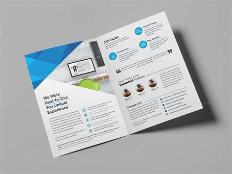 Bifold Brochure Template by Professional Bifold Brochure Template 000440 Template