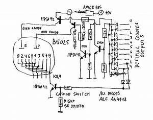 nixie tube clock With nixie tube circuit