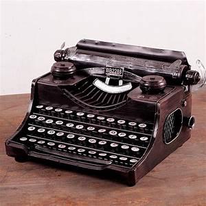 Zakka Intelligence Vintage Home Decor Typewriter, Wrought ...