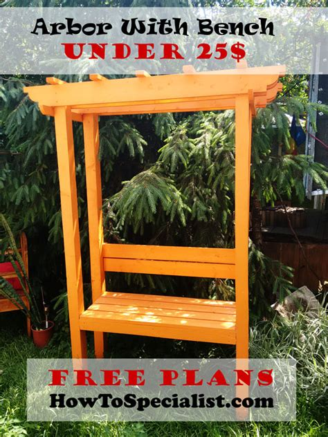 build  garden arbor  bench howtospecialist