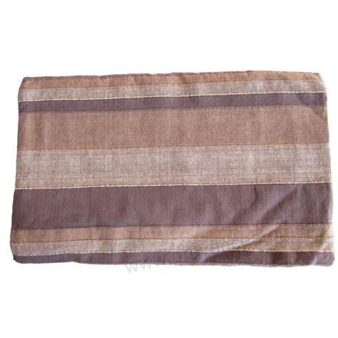 plaid marron pour canapé grande tenture kérala plaid couvre lit marron café