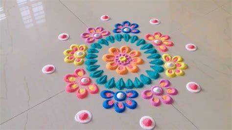 simple  easy rangoli designs simple craft ideas