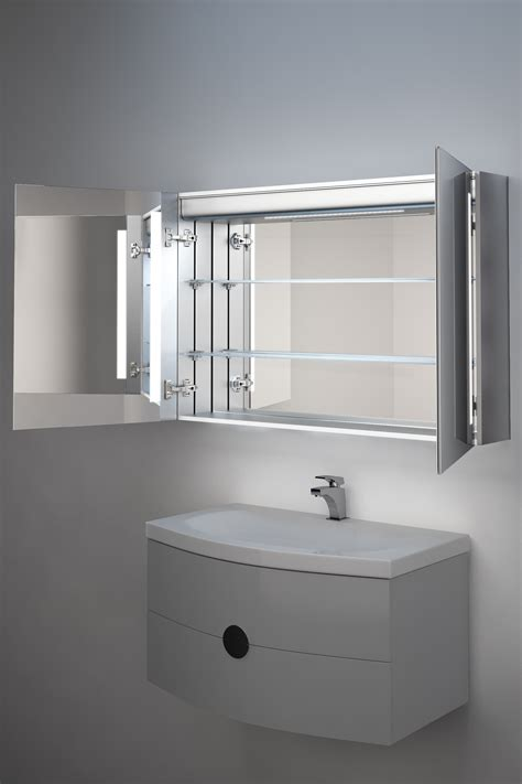Mirror Light Bathroom Cabinet by Julius Demister Bathroom Cabinet With Ambient