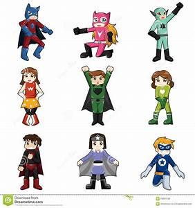 Kinder Die Superheld Kostm Tragen Vektor Abbildung