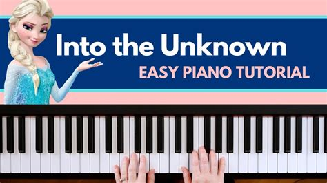 Learn how to play into the unknown (end credit version) easy on piano! Into the Unknown - Frozen 2 (EASY Piano Tutorial) - YouTube