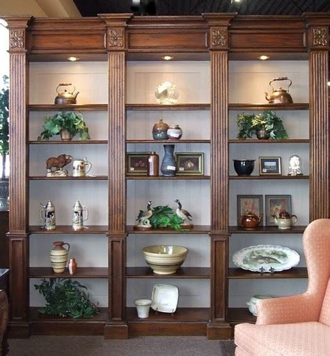 lighted wall unit bookcase display cabinet