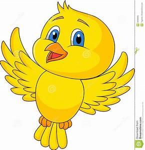 Cute bird cartoon flying stock vector. Illustration of ...