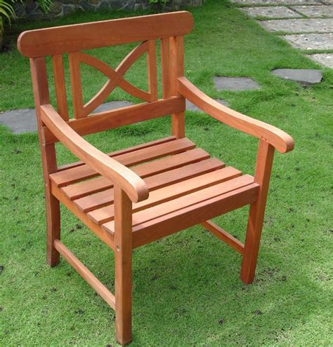 Wooden Garden Chairs With Arms, Outdoor Furniture