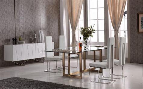 modern tempered glass  brass dining set philadelphia