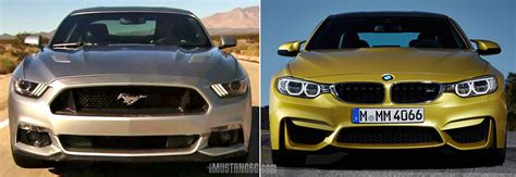 Bmw M4 Competition Ford Mustang Bullitt Test by 2015 Mustang Gt Versus 2015 Bmw M4 Comparison 2015 S550