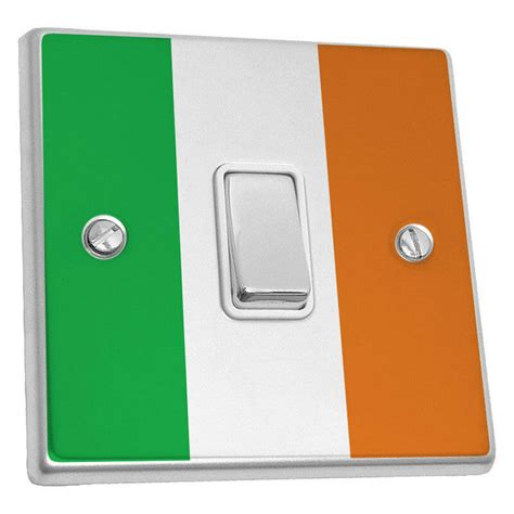 light switch sticker skin decal cover 2 pack ireland celtic flag ebay