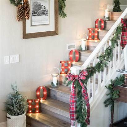 Christmas Decoration Decorations Decor Holiday Indoor Stairs