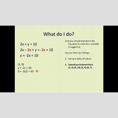 Algebra 1 Lesson 1 Linear Equations Equations With X And Y (simplifying Math) Youtube