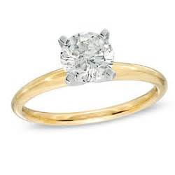 1 ct solitaire engagement ring in 14k gold brilliant buys zales - Gold Engagement Rings Zales