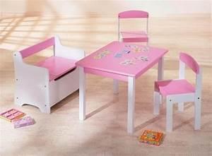Table Et Chaise Enfant : table et 2 chaises enfant rose et blanc lotta ~ Nature-et-papiers.com Idées de Décoration
