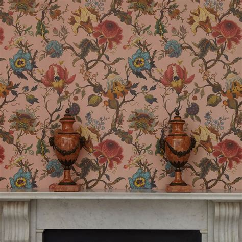 artemis  house  hackney blush wallpaper direct