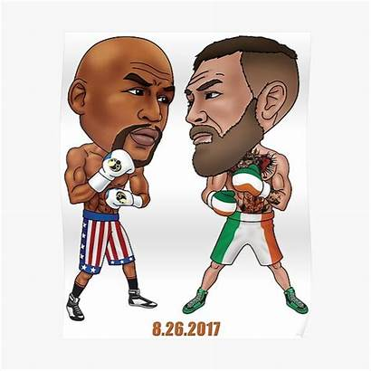 Mayweather Mcgregor Vs Poster Posters Redbubble