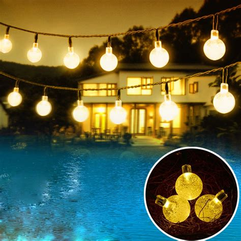 outdoor solar powered string waterproof lights  ft