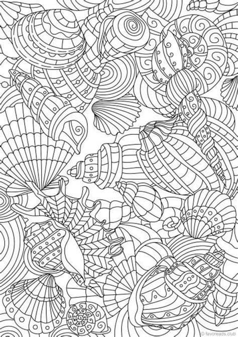 shell pattern printable adult coloring page