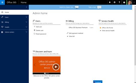 Office 365 Portal Admin by The New Office 365 Admin Center Preview Microsoft 365