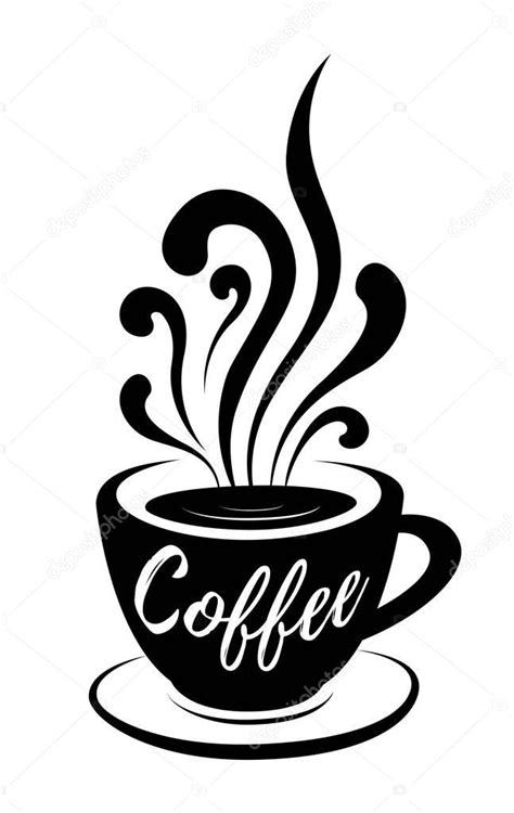 Are you looking for coffee illustration images? Coffee stylized lettering on coffee cup with steam hand drawn vector illustration on white ...