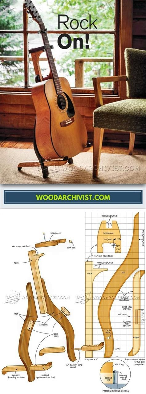diy guitar stand woodworking plans  projects