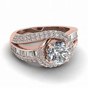 twirl embellished set fascinating diamonds With rose gold wedding ring sets