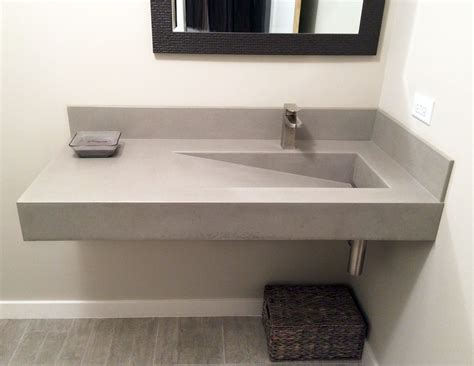 wall hung concrete bathroom sink   custom ramp sink  trueform concrete trueformconcrete custom concrete bathroom sinks trueform