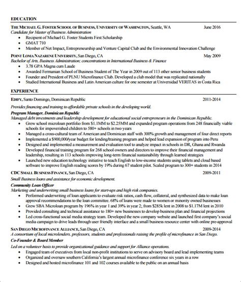 Undergraduate Internship Resume by Internship Resume Template 7 Free Documents In