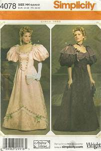 Simplicity 4078 Misses Ball Gown Costume Pattern 1900s ...