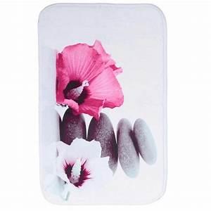 tapis de salle de bain 70x45 cm zen rose With tapis salle de bain zen