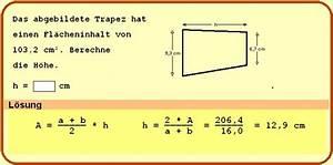 Höhe Vom Trapez Berechnen : beispielaufgaben ~ Themetempest.com Abrechnung