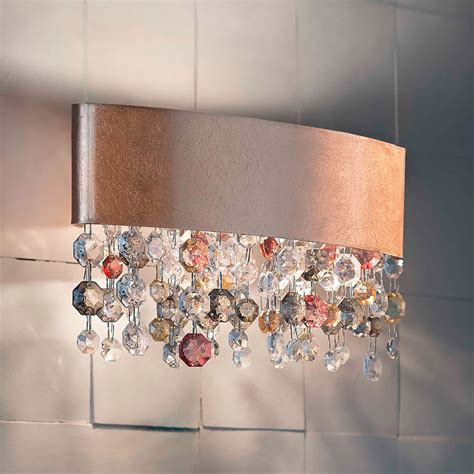 oval copper chandelier style wall light