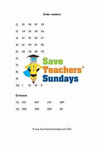 Ordering Numbers Ks2 Worksheets And Lesson Plans