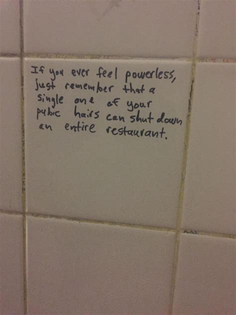 written   bathroom wall