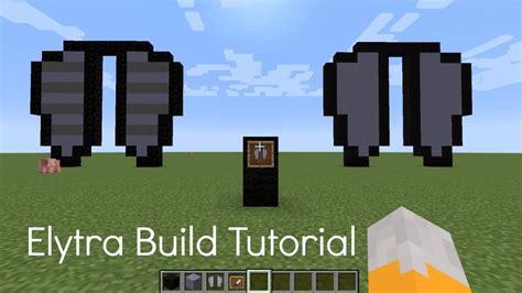 minecraft elytra build tutorial youtube