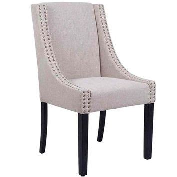taupe oatmeal brighton upholstered dining chair temple