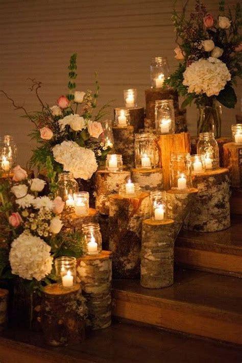 fab country rustic wedding ideas  tree stump