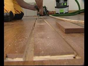 boen remplacement d39une lame de parquet youtube With parquet flottant qui craque