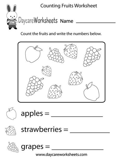 15 best images of kindergarten fruit worksheets